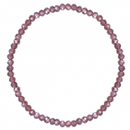 Facet armbanden top quality 3x2mm Light purple-pearl shine coating