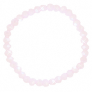 Facet armbanden top quality 6x4mm Light pink-pearl shine coating