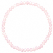 Facet armbanden top quality 4x3mm Light pink-pearl shine coating