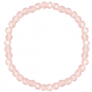Facet armbanden top quality 6x4mm Light rose-pearl shine coating