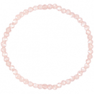 Facet armbanden top quality 4x3mm Light rose-pearl shine coating