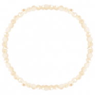 Facet armbanden top quality 4x3mm Beige peach-half pearl shine coating