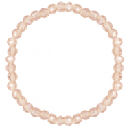 Facet armbanden top quality 6x4mm Champagne beige-pearl shine coating