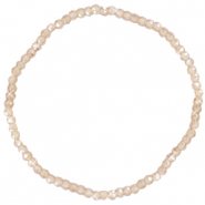 Facet armbanden top quality 3x2mm Champagne beige-pearl shine coating