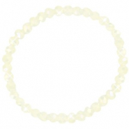 Facet armbanden top quality 6x4mm Off white-pearl shine coating