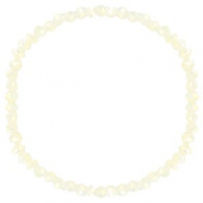 Facet armbanden top quality 4x3mm Off white-pearl shine coating