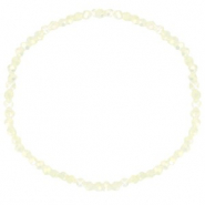Facet armbanden top quality 3x2mm Off white-pearl shine coating