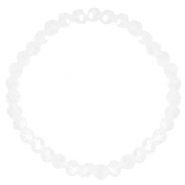 Facet armbanden top quality 6x4mm Crystal-pearl shine coating