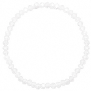 Facet armbanden top quality 4x3mm Crystal-pearl shine coating