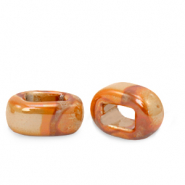 C.U.S schuiver Grieks keramiek DQ 5x12mm Amberglow orange