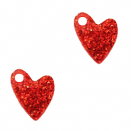 Bedels Plexx hart glitter Ruby red