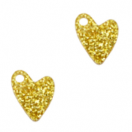 Bedels Plexx hart glitter Golden yellow
