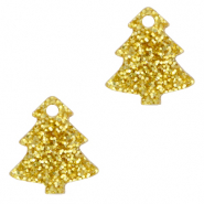 Bedels Plexx kerstboom glitter Golden yellow