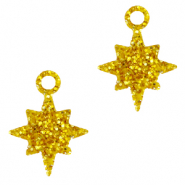 Bedels Plexx ster glitter Golden yellow