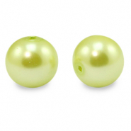 Glasparels rond 12 mm Lime green