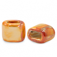 C.U.S schuiver Grieks keramiek DQ 11x12mm Amberglow orange