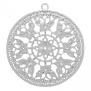 Bohemian hanger round butterfly Silver