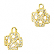Zirkonia bedel cross Gold