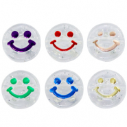Acryl letterkralen smiley Transparent-multicolour