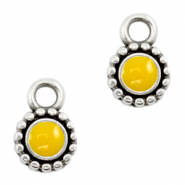 Metaal bedels DQ Tropical yellow-antique silver (nikkelvrij)
