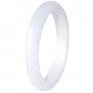 Ringen Polaris 3mm Matt Bianco wit