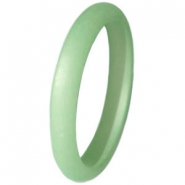 Ringen Polaris 3mm Matt Crysolite green