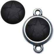 Cabochon Polaris ster matt 12 mm Nero zwart