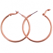 Creolen DQ 30 mm Rose gold plated