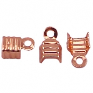 Veterklemmen DQ 4 mm Rose gold plated