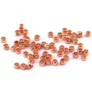 Knijpkralen DQ 2 mm Rose gold plated