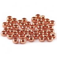 Knijpkralen DQ 3 mm Rose gold plated