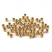 Knijpkralen DQ 3 mm Gold plated