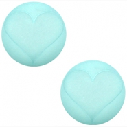 Cabochon Polaris hart matt 20 mm Light turquoise