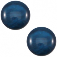 Cabochon Polaris 12mm Mosso shiny  Denim blue