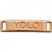 "Bedels 2 ogen ""YOLO""  Light rose gold"