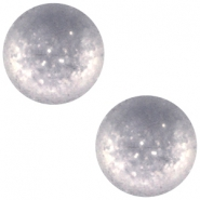 Cabochon Polaris 12 mm Paipolas matt Bianco wit