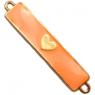 Bedels twee ogen hart  Goud - sun orange