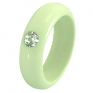 Ringen Polaris 7 mm galastil Crysolite green