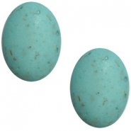 Polaris cabochons Flake ovaal 10x13mm Turquoise blauw