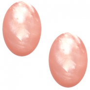 Polaris cabochons Mosso ovaal 10x13mm Rose peach