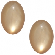 Polaris cabochons shiny ovaal 13x18mm Greige