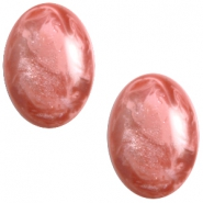 Polaris cabochons Pearl shine Jais ovaal 10x13mm Antique pink