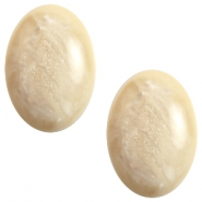 Polaris cabochons Pearl shine Jais ovaal 10x13mm Afterglow beige