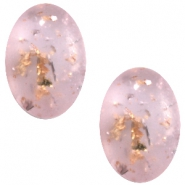 Polaris cabochons Tresa Opaco ovaal 10x13mm Light rose shimmer gold silver