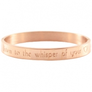 Armband met quote Rose gold