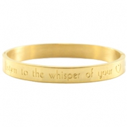 Armband met quote Goud