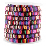 Koord Aztec 6x4mm Multicolor pink