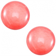 Cabochon Polaris 7mm Mosso shiny Coral pink