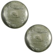 Cabochon Polaris 12mm Jais Agave green