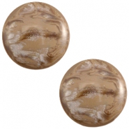 Cabochon Polaris 12mm Jais Woodsmoke brown